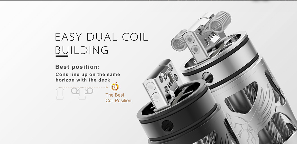 Vapefly Brunhilde Top Coiler RTA Easy Dual Coil Building
