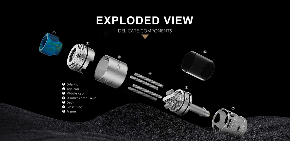 Vapefly Brunhilde Top Coiler RTA Exploded View