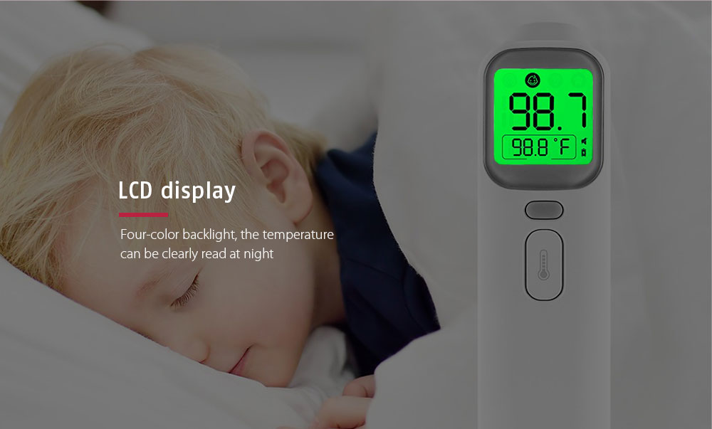 AOJ - 20A Multifunctional Forehead Ear Infrared Thermometer- White