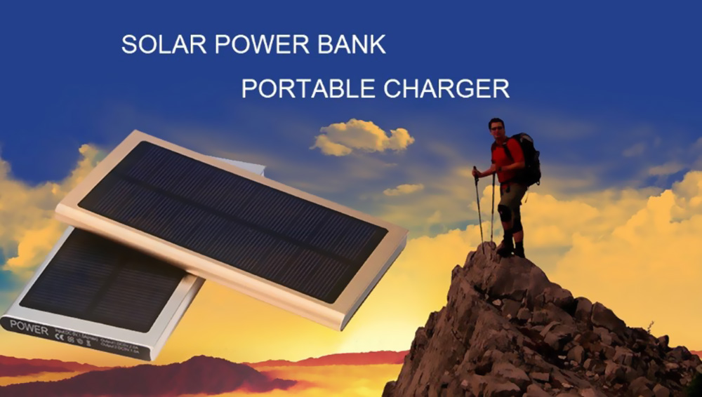 Solar Power Bank with LCD Light