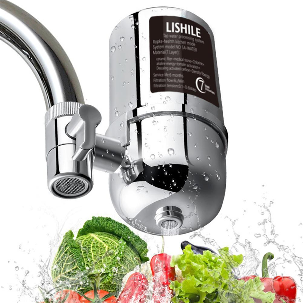 Adoolla Faucet Mount Drinking Water Filter for Home Kitchen- Silver