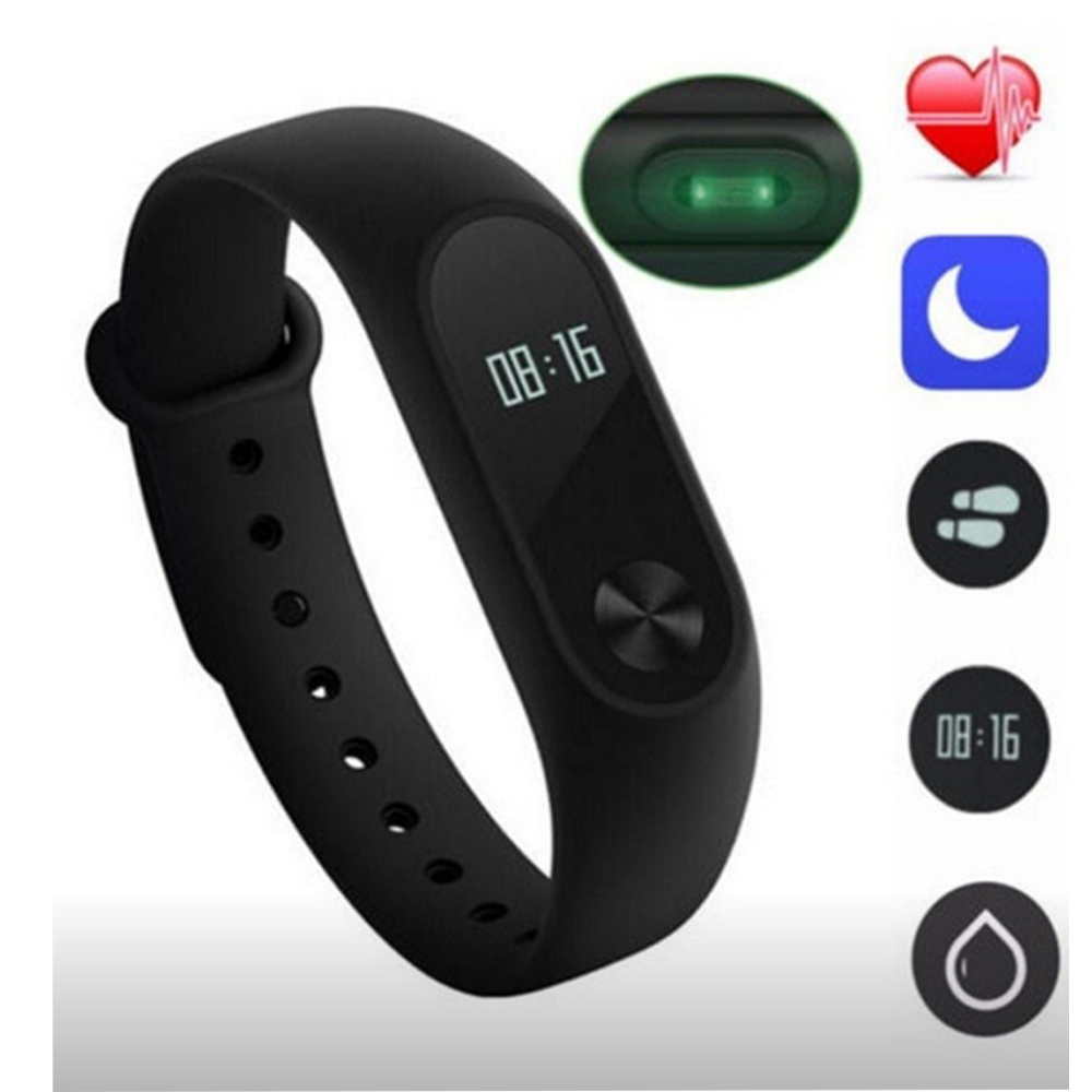 M2 touch screen smart sports bracelet- Macaw Blue Green 1pc