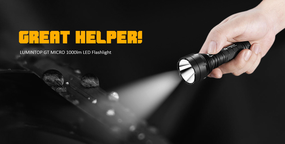 LUMINTOP GT MICRO 1000lm Flashlight- Black Cool White