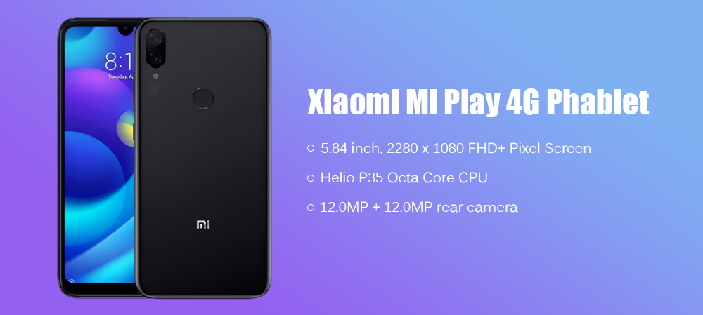 Xiaomi Mi Play 4G Phablet Global Version Blue 4+64GO
