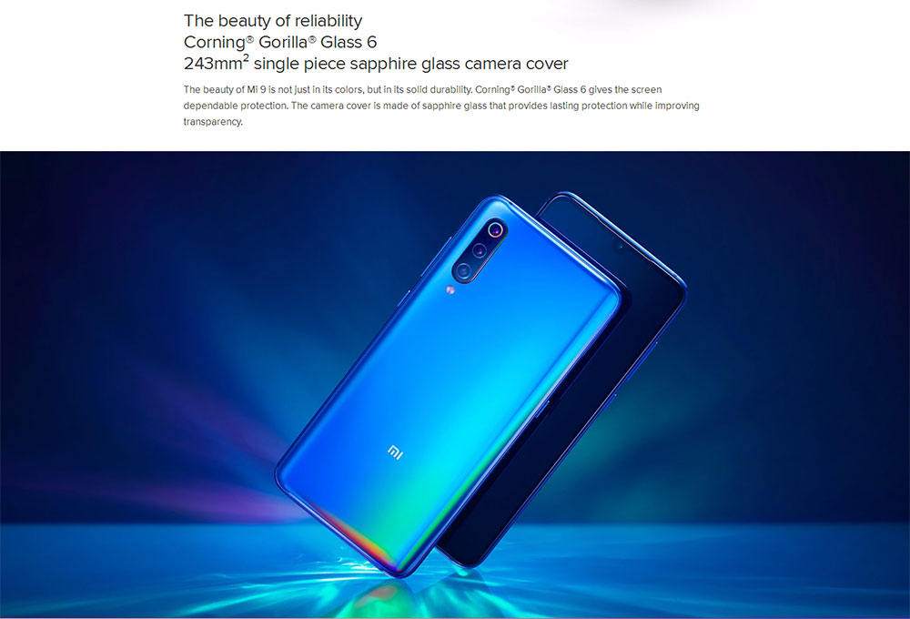 Xiaomi Mi 9 4G Phablet 6.39 inch MIUI 10 ( Android 9.0 ) Qualcomm Snapdragon 855 Octa Core 2.84GHz 6GB RAM 64GB ROM 20.0MP Front Camera Face ID 3300mAh Built-in- Black