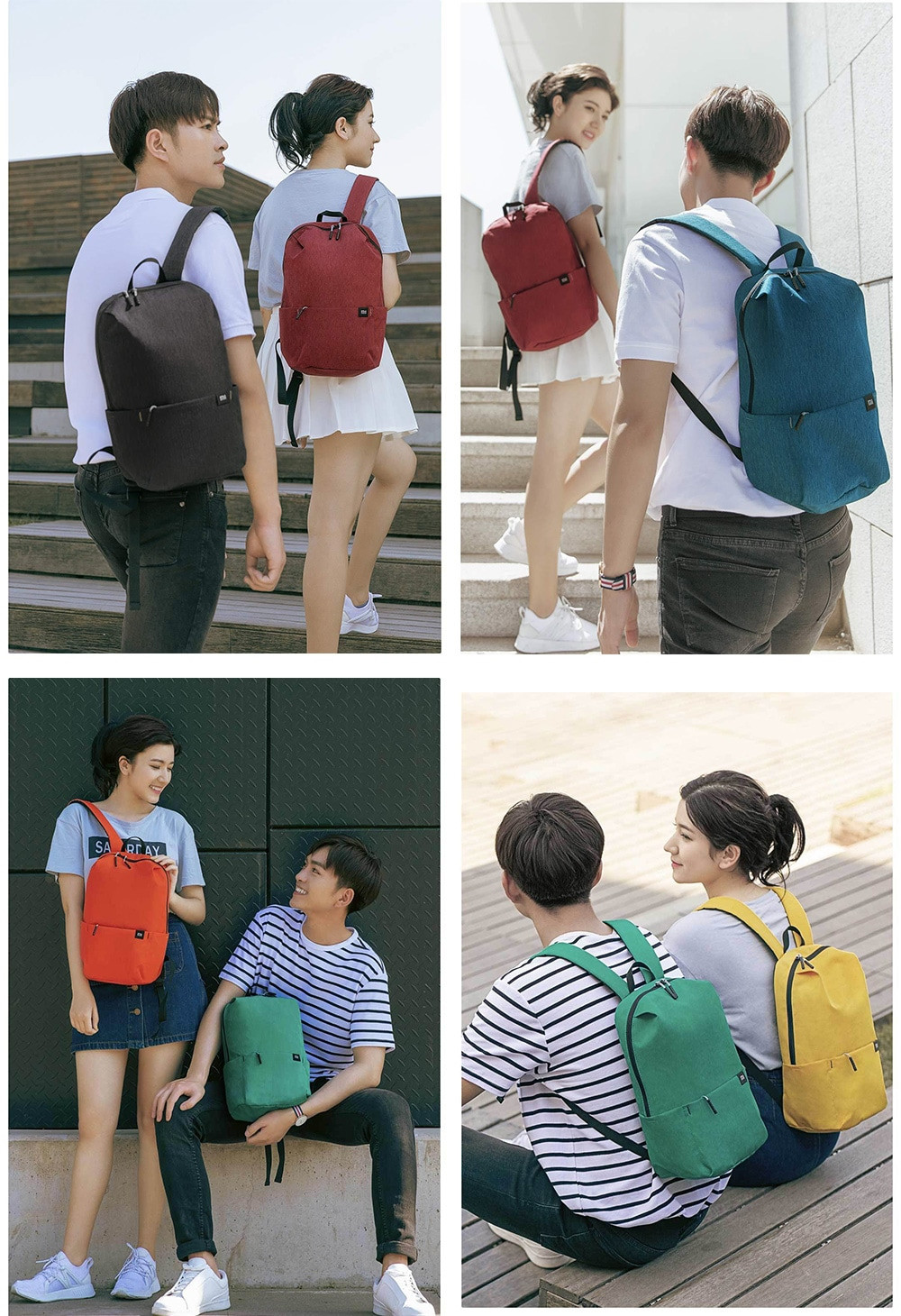 For Xiaomi colorful small backpack Unisex Rucksack Casual Bag for Traveling- Algae Green