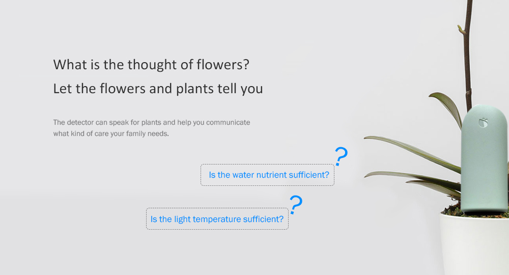 Xiaomi Mija Flowers And Plants Grass Detector Plant Detector Soil Photometric Analyzer- Pale Blue Lily
