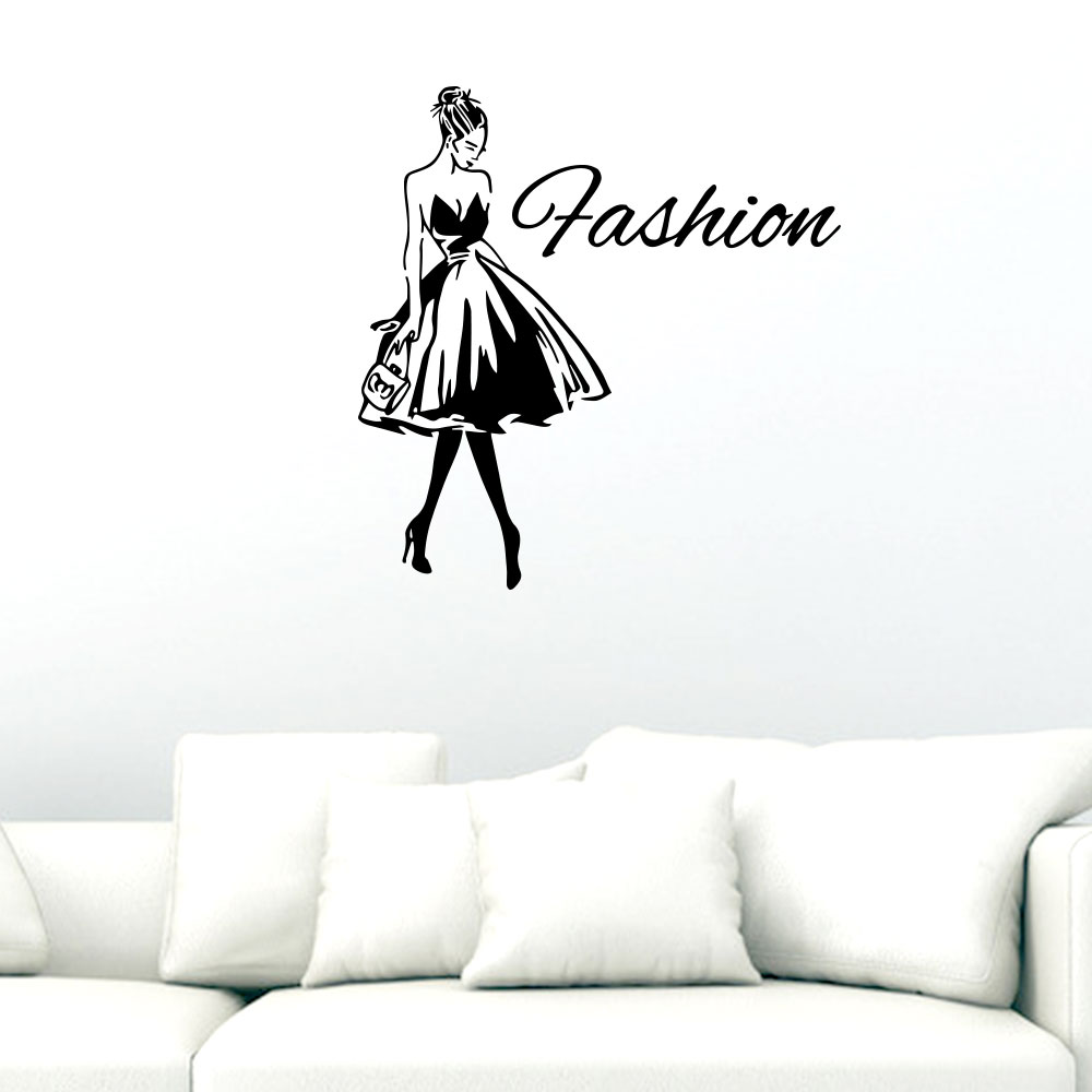 Fashion Girl Princess Wall Sticker Living Room Bedroom Wall Decoration Sticker Sale Price Reviews Gearbest