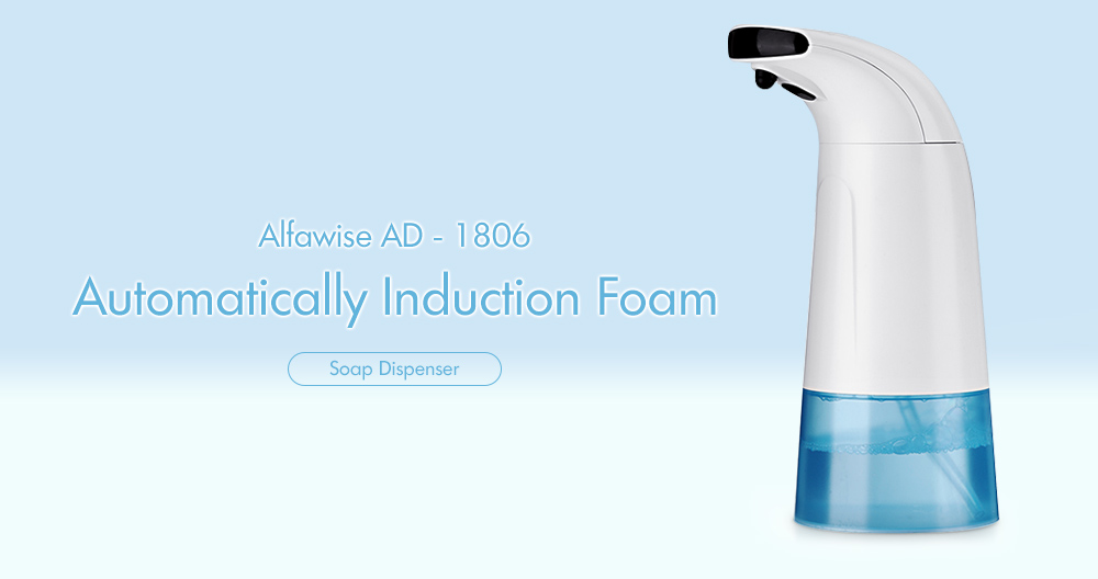 Alfawise AD - 1806 Distributeur Automatique de Savon en Mousse à Induction- Blanc