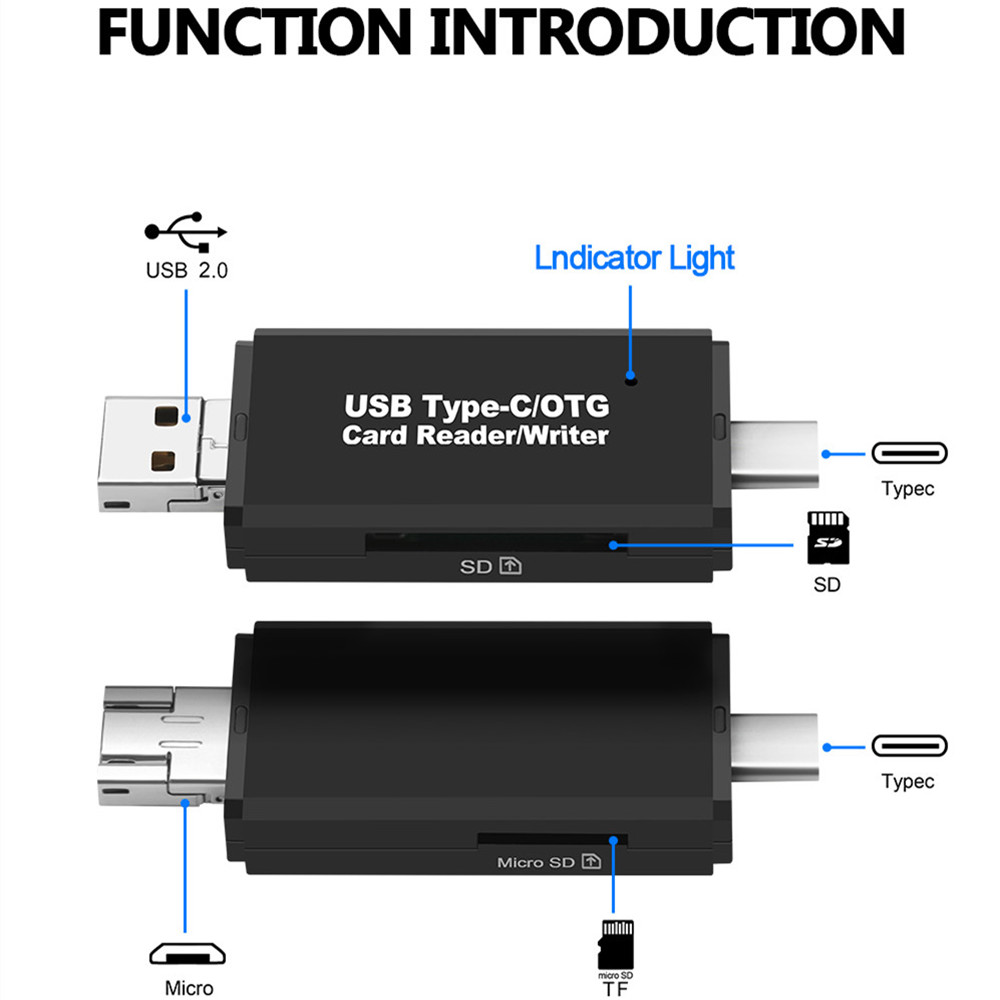 Backward Compatible with USB2.0 Portable and Compact Appearance CuiXiangUK High Speed usb3.0 sd tf All-in-one Card Reader Suitable for Computer