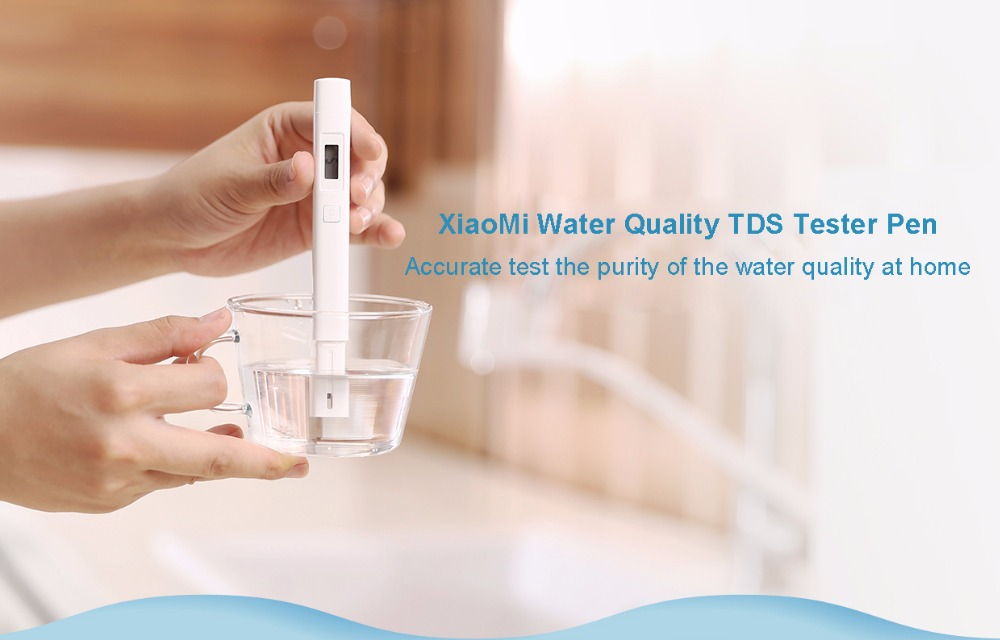 Xiaomi IPX6 Waterproof Water Quality Purity Measuring Pen Tester- White