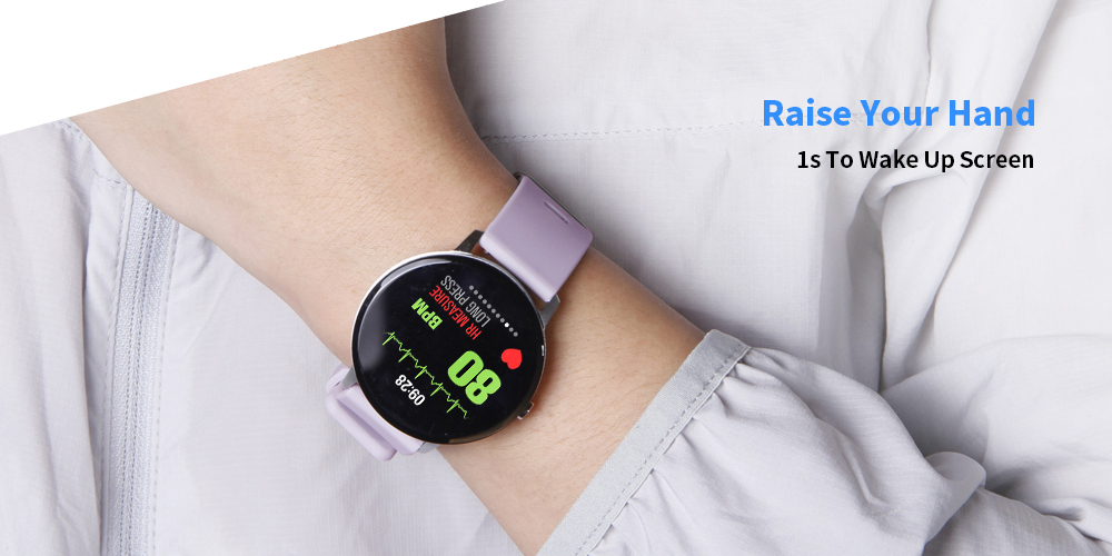 Goral V11 1.3 inch Sports Smart Watch Bluetooth 4.0 IP67 Waterproof Call / Message Reminder Heart Rate Monitor Blood Pressure Functions- Black