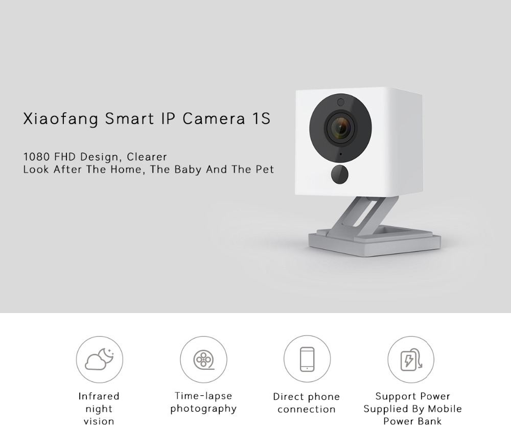 Xiaomi Mijia Smart IP Camera 1S HD 1080P Night Vision Two-way Audio Webcam