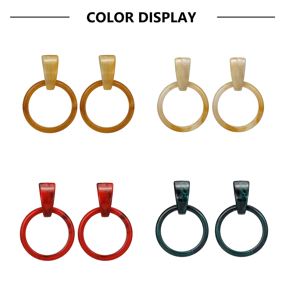 New Acrylic Sheet Fashion Simple Acetic Acid Resin Personality Earrings
