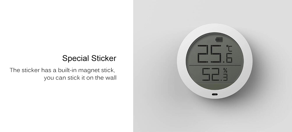 Bluetooth Temperature Humidity Sensor LCD Screen Digital Thermometer Hygrometer Moisture Meter from Xiaomi Youpin- White