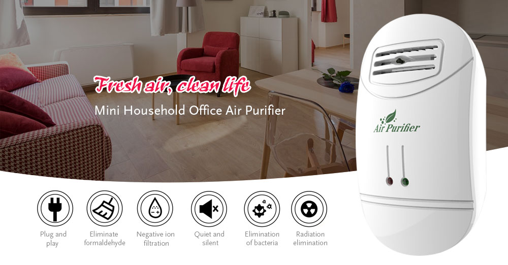 Mini Household Office Small Air Purifier- White 2000W