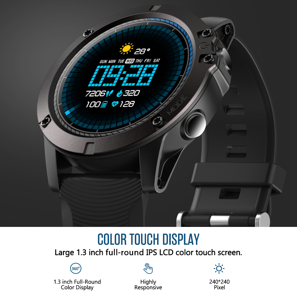 Zeblaze VIBE 3 PRO Touch Display Exercise Tracking Smart Watch - Marble Blue