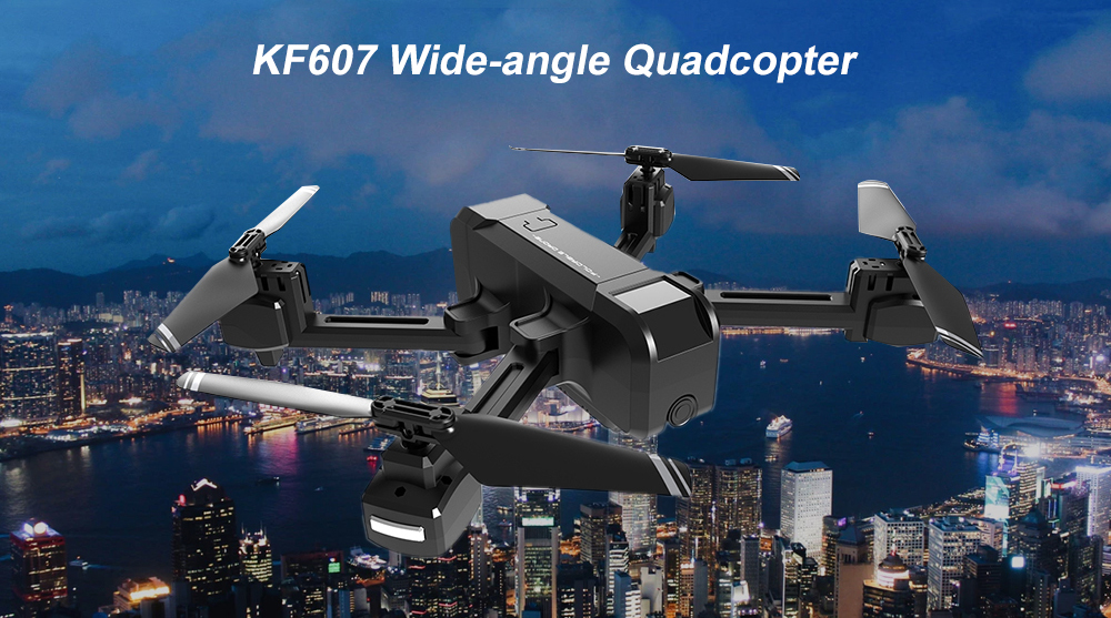 KF607 Quadcopter Optical Flow Pressure Altitude Hold Black 1080P Camera
