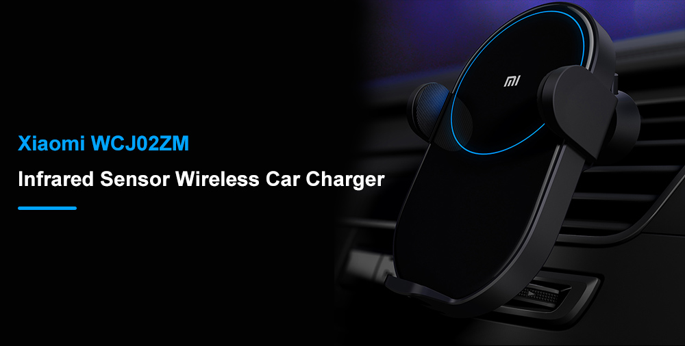 Xiaomi WCJ02ZM Durable Wireless Car Charger- Black
