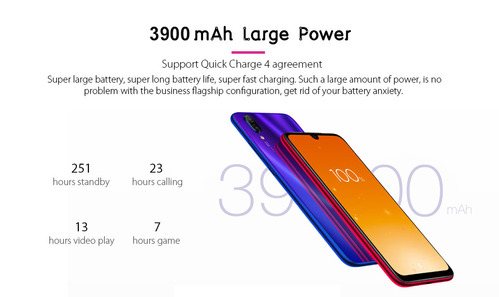 Xiaomi Redmi Note 7 4G Phablet 6.3 inch MIUI 10 ( Android 9.0 Pie ) Qualcomm Snapdragon 660 Octa Core 2.2GHz 4GB RAM 64GB ROM 48.0MP + 5.0MP Rear Camera Fingerprint Sensor 3900mAh Built-in- Black