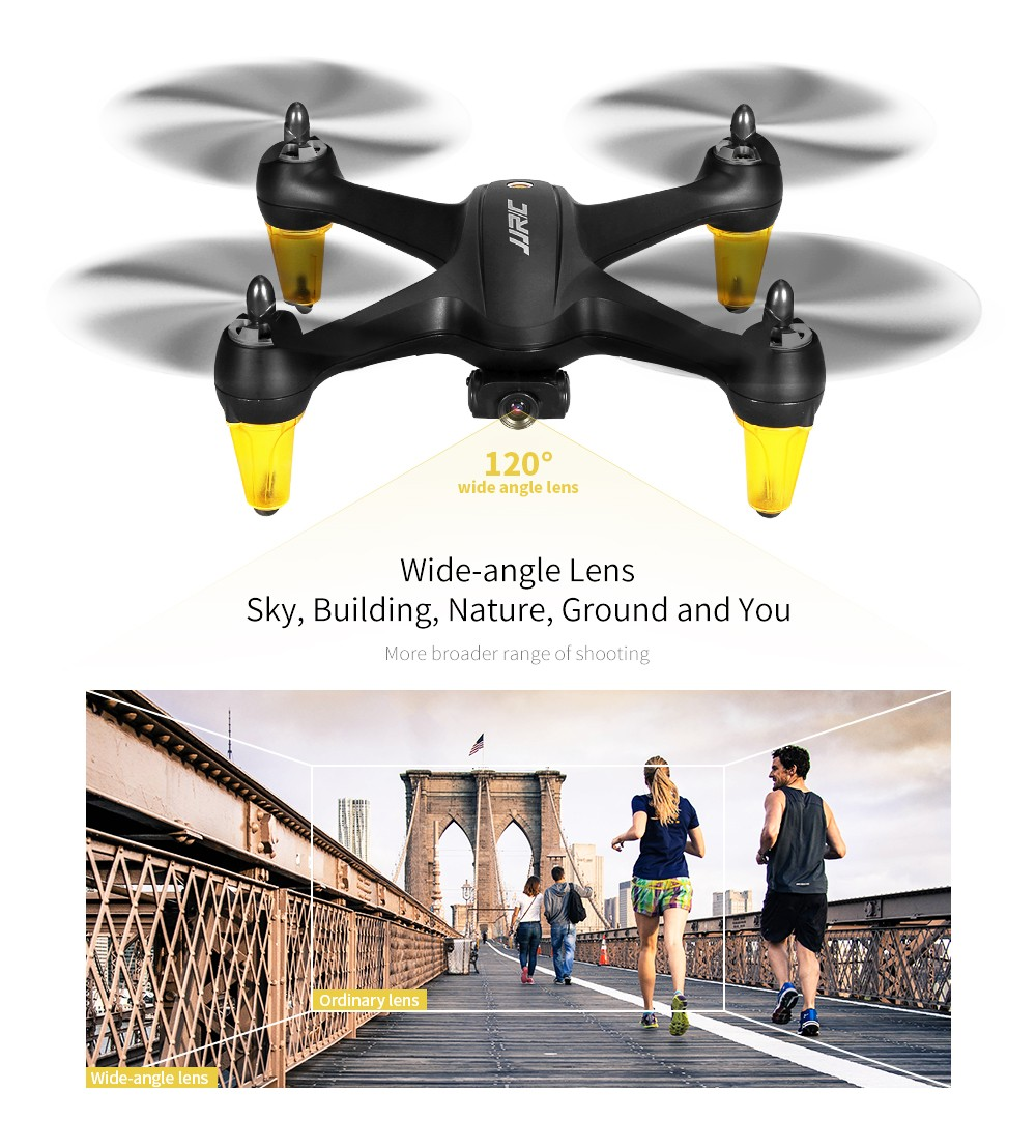 JJRC X3P RC Drone 1080P Camera GPS Brushless Altitude Hold Follow Me Point of Interest - Black