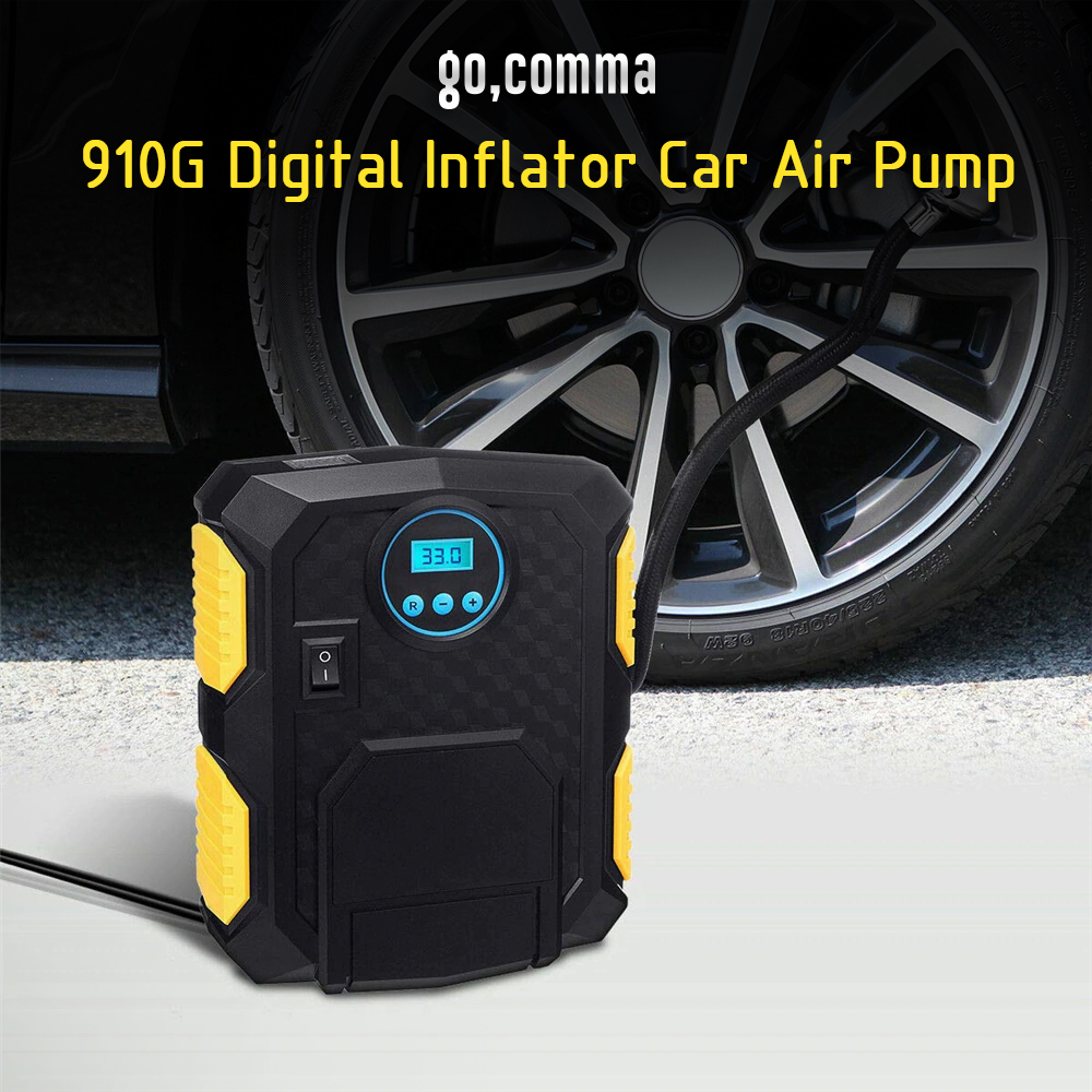 Gocomma 910G Digital Inflator Car pompe à air Noir