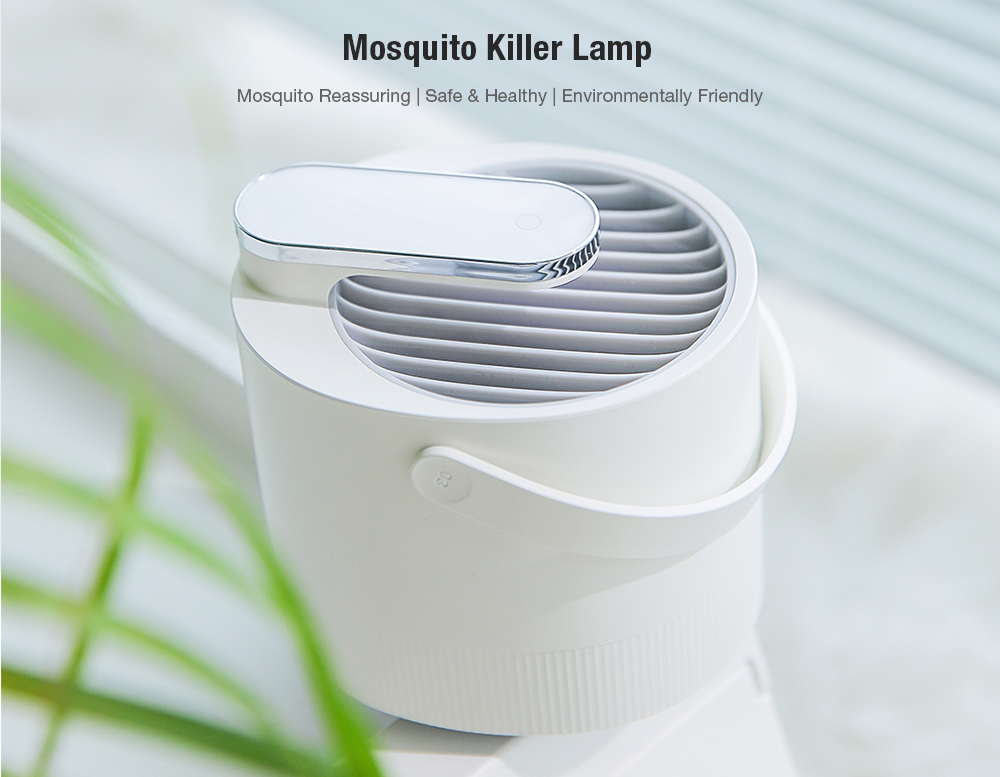 Mosquito Repellent USB Electric Photocatalyst Insect Killer Lamp Trap UV Light- Black