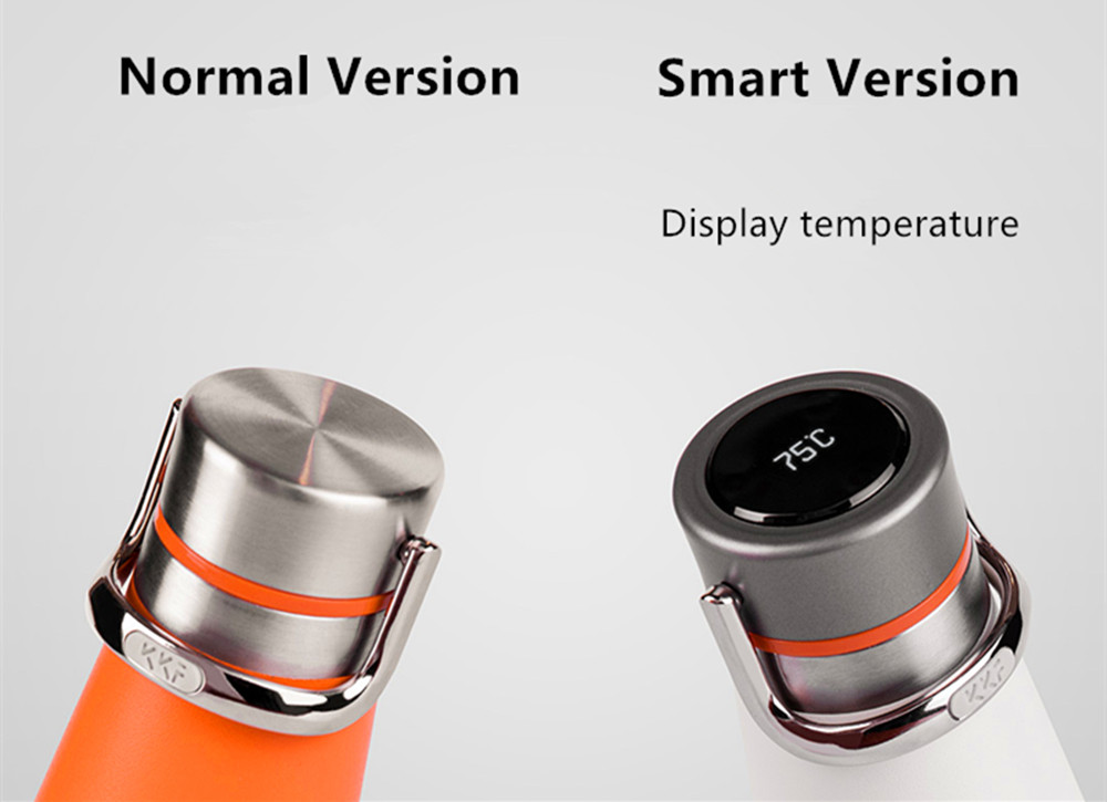 Xiaomi KKF Smart Vacuum Thermos Water Bottle OLED TEMP Display Insulation Cup- Slate Gray NORMAL VERSION