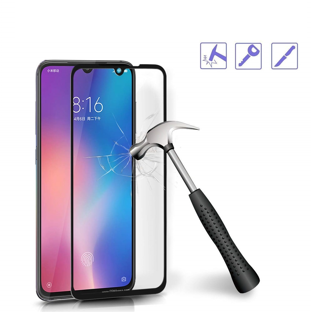 0.26mm 9H Full Cover Tempered Glass Screen Protector for Xiaomi Mi 9 SE 2PCS - Black