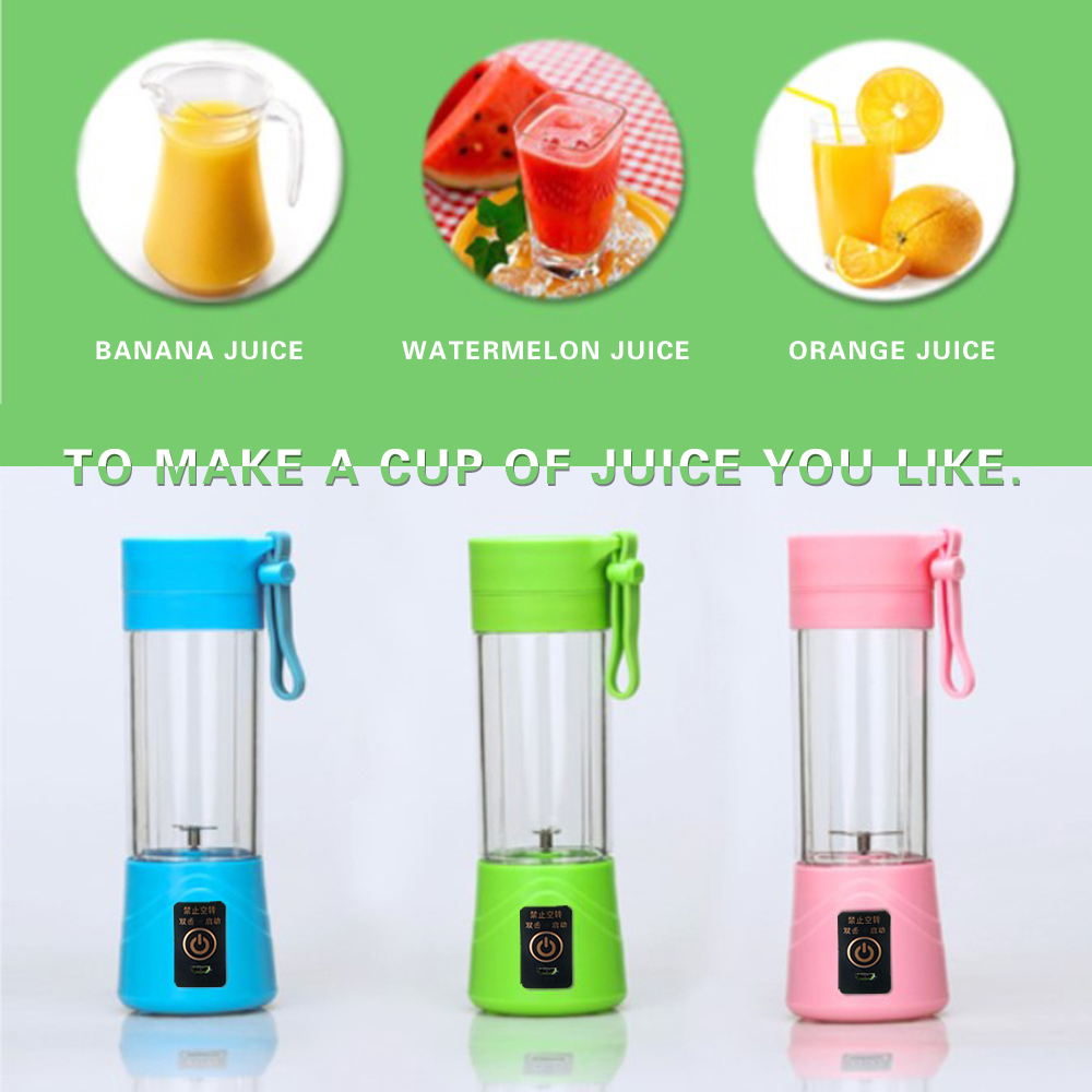 Portable Juicer Blender Electric USB Rechargeable Fruit Cut- Pink