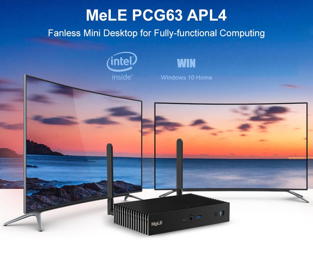 MeLe PCG63 APL4 Fanless Mini PC/3+32G