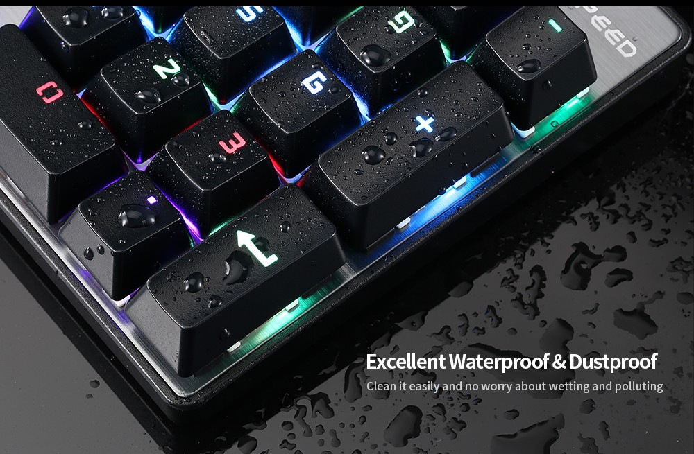 Motospeed Inflictor CK104 NKRO Gaming Mechanical Keyboard Ergonomic Virtual Keyboards with Backlight- Rose Gold Blue Switch