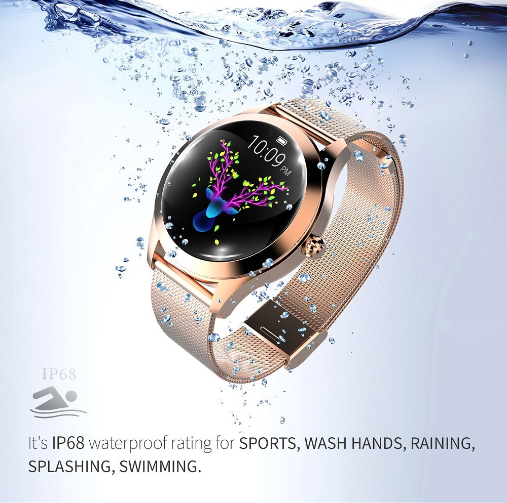 KW10 smartwatch IP68 Waterproof Smartband Heart Rate Monitor