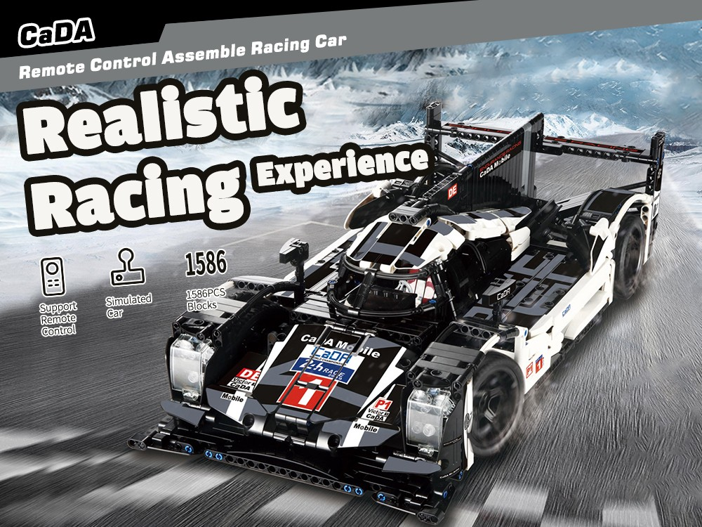 CADA Endurance Racing Model Assembling Educational Toys Black