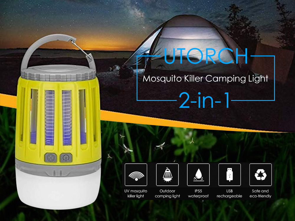 UTORCH 2 in 1 Mosquito Killer Camping Light Jaune