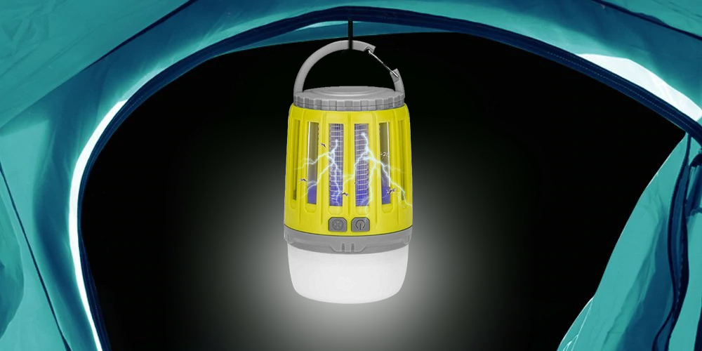 UTORCH 2-in-1 USB Rechargeable Mosquito Killer Camping Light- Kuning