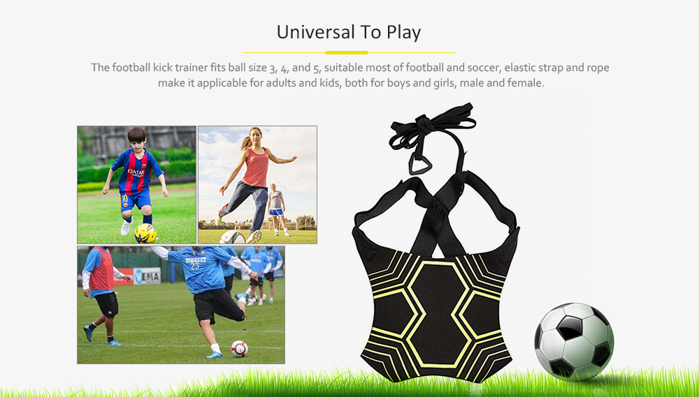 Ball with Football Training Equipment Football Training with Auxiliary Kicking- Multi