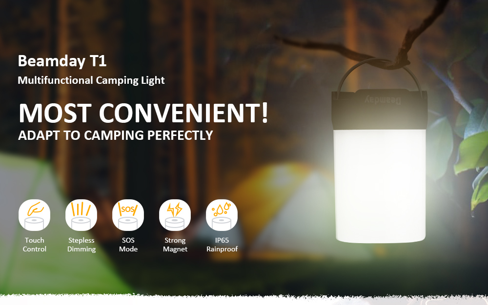 Beamday T1 350lm LED Camping Light White