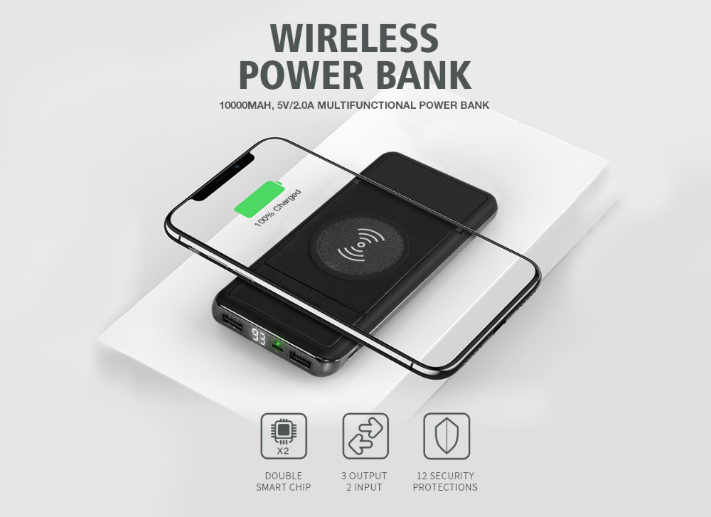 W 56 Mobile Power Bank 10000mAh Black