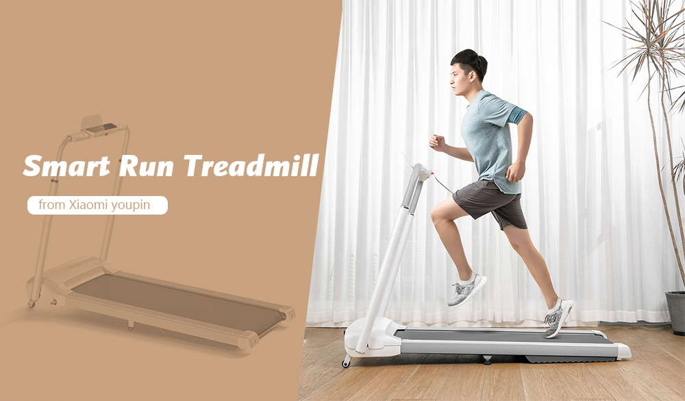 Smart Run WiFi Folding Treadmill with Handle and LED Display from  youpin- Silk White