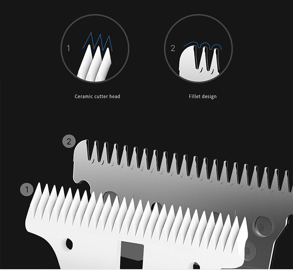 Smate Electric Hair Clipper Trimmer Automatic Hair Suction - Celeste