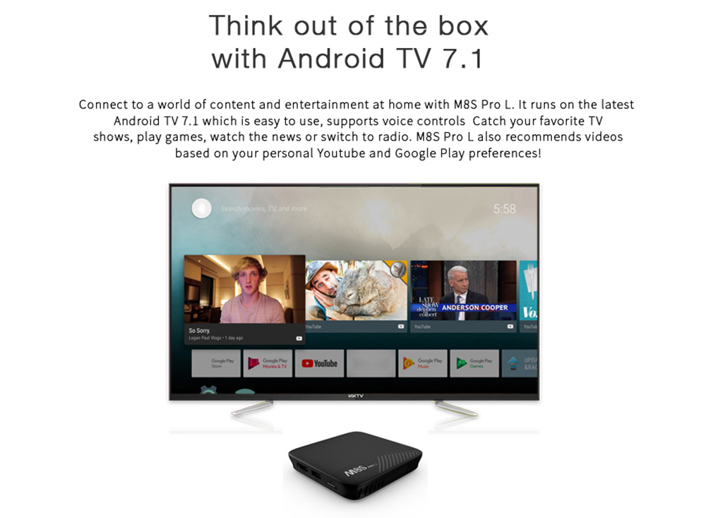 MECOOL M8S PRO L 4K TV Box with Voice Remote Control