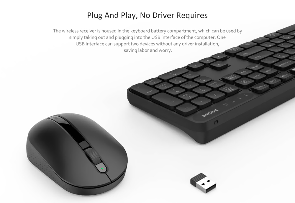 MIIIW Windows / Mac Dual System Keyboard Mouse Set ( Xiaomi Ecosystem  Product )