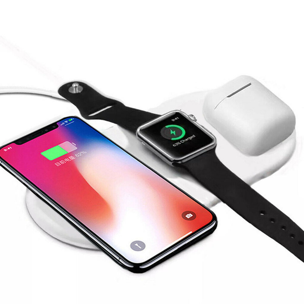 3 In 1 Qi Wireless Charger Holder For Airpod 2 Iphone Iwatch Sale Price Reviews Gearbest