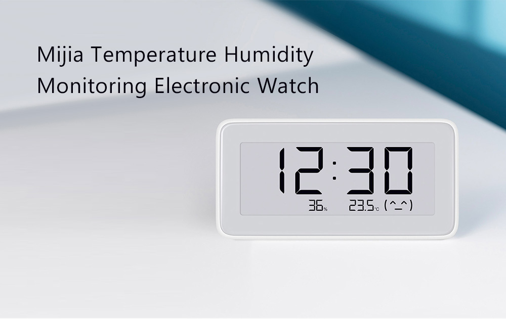 MIJIA Temperature Humidity Monitoring Electronic Watch Milk White