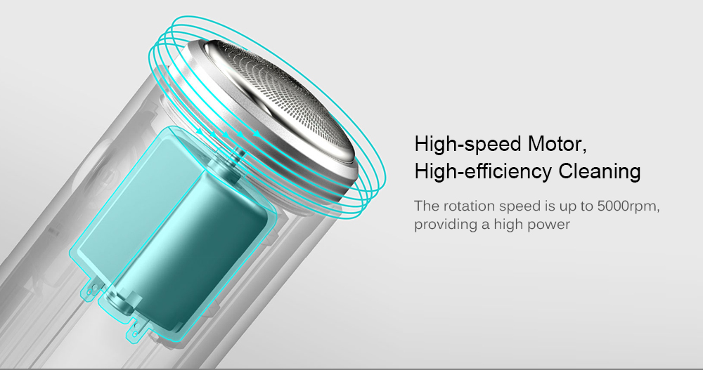 SO WHITE ED1 Mini Pocket Deep Clean Long Duration Electric Shaver from Xiaomi youpin- White