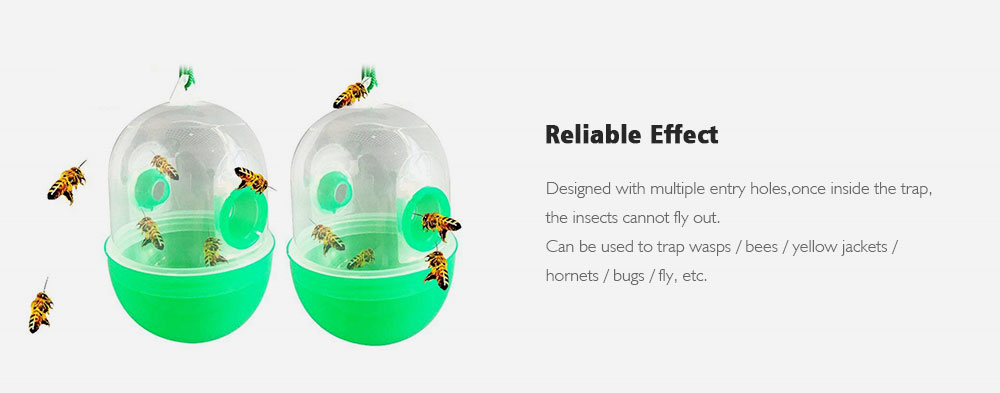 12d0ad3b9b8bc 2PCS Wasp Trap Outdoor Bee Honey Insect Catcher- Green