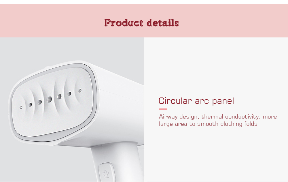 GT - 301W Secondary Heating Panel / Intelligent Steam Heating / 8 Degree Inclination Angle Handheld Electric Iron from Xiaomi youpin- White