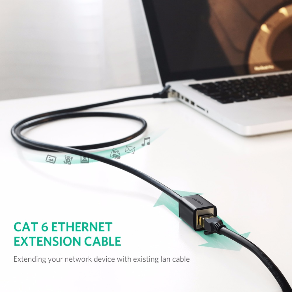 RJ45 CAT6 Male to Female Ethernet Lan Network Extension Cable PC Laptop