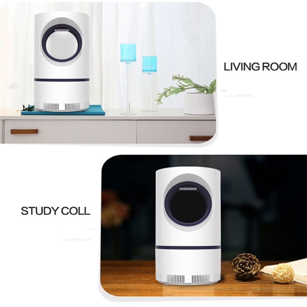 Mosquito Killer Lamp LED Fly Bug Insect Killer Trap Physical Anti Mosquito Lamp - White